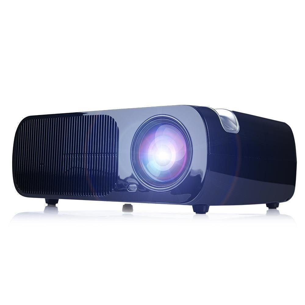 Rulu BL20 Video Projector, 2600 Lumens Home Cinema 5.0 Inch LCD TFT Display 1080P HD 3D