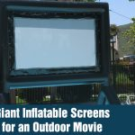 Giant Inflatable Screens for an Outdoor Movie