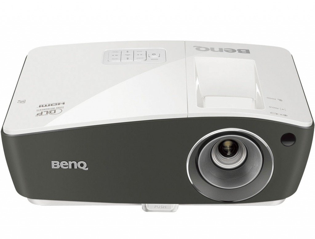 image of a white benQ projector