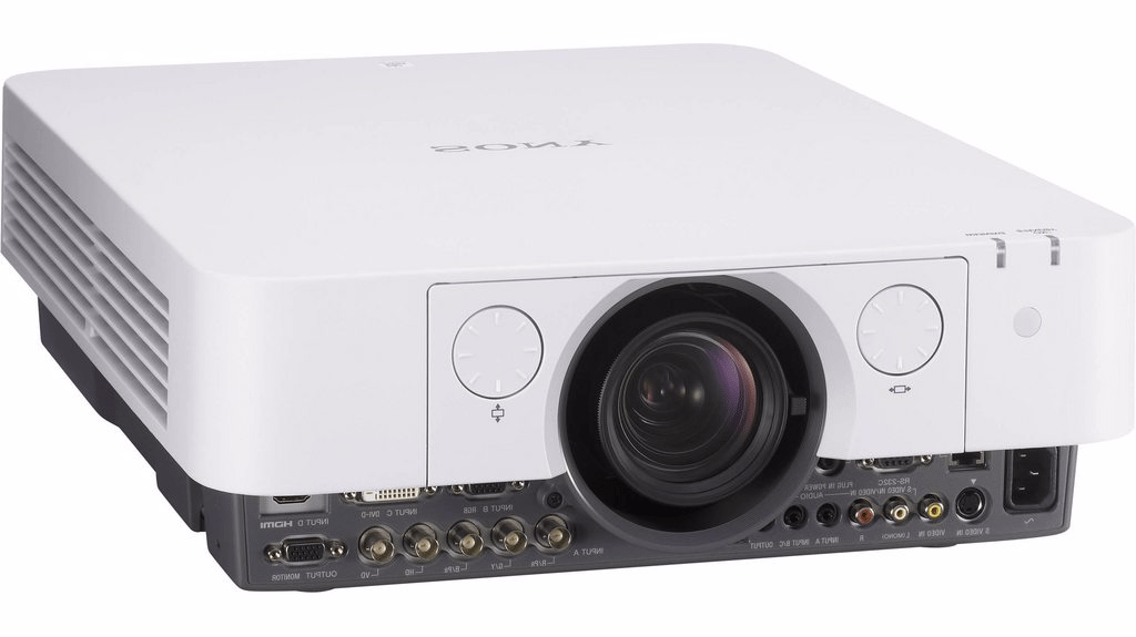 image of a white Sony projector